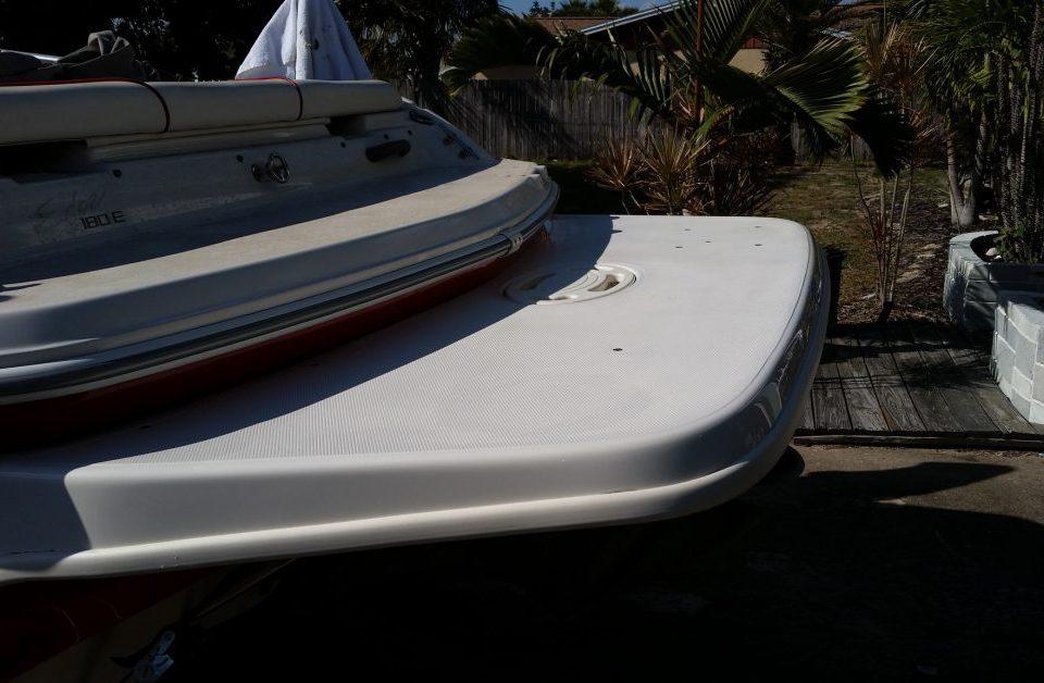 white boat deck