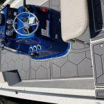 custom hex pattern gray boat decking