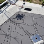 gray and black hex boat flooring
