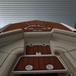 front of powerboat with imitation teak decking