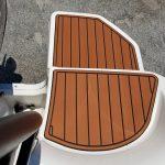 boat steps with teak decking