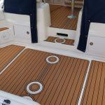 faux teak boat decking installation