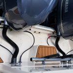 engine deck with teak