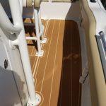 teak planked boat