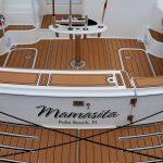 customized teak boat