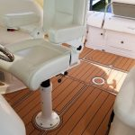 captain's chairs with teak