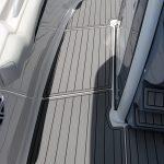 gray boat decking