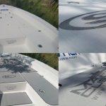 gray custom boat decking