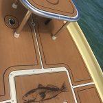 custom teak design on boat